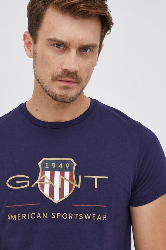 granatowy Gant - T-shirt