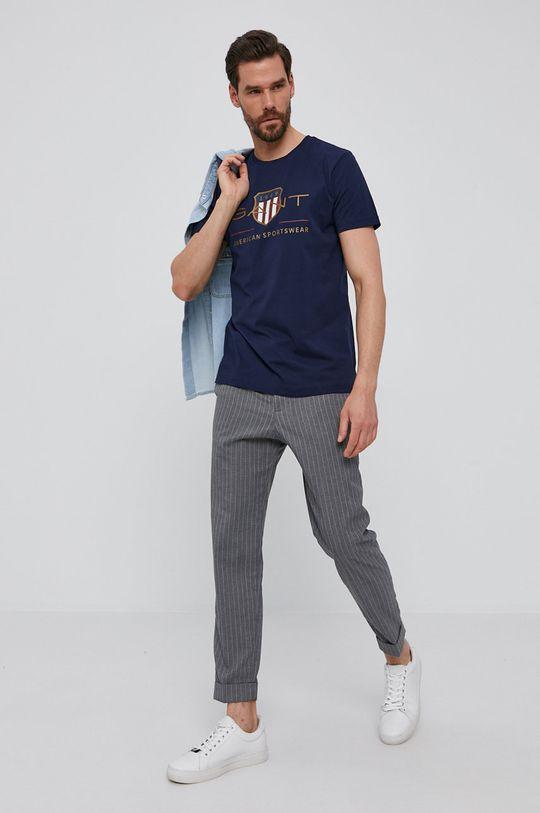 Gant - T-shirt granatowy