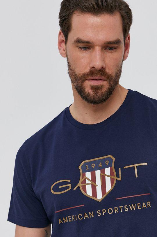 sötétkék Gant - T-shirt