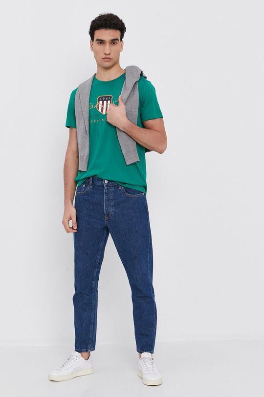 Gant - Tričko tyrkysová