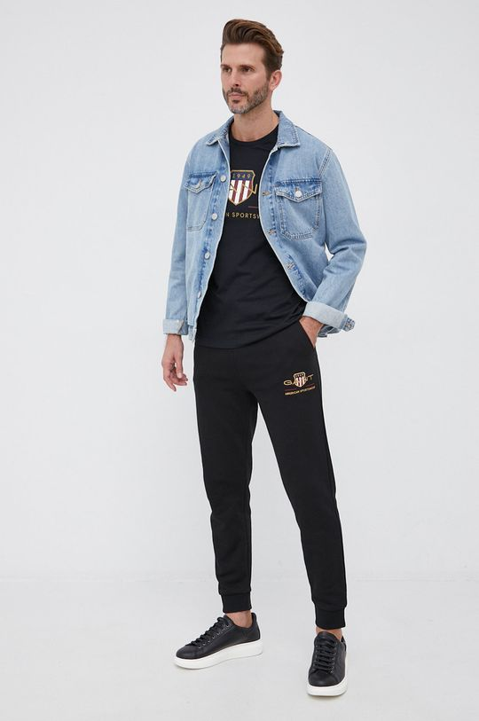 Gant - T-shirt czarny