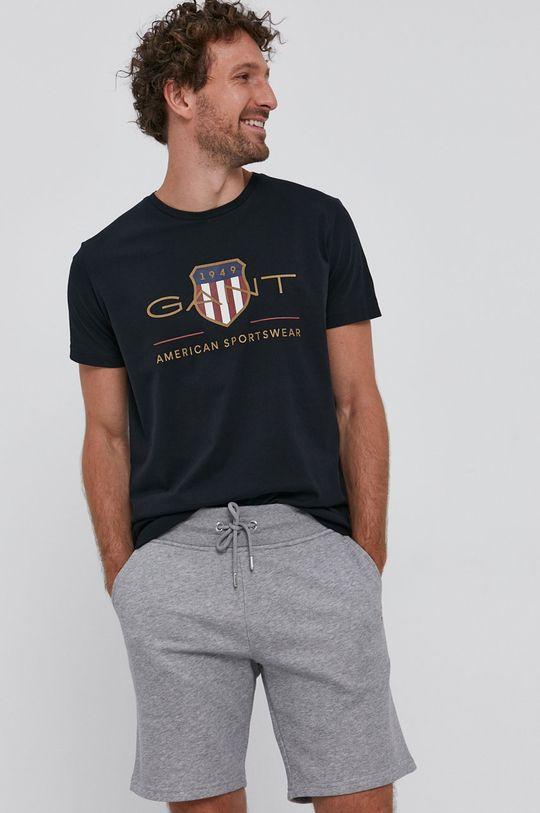 fekete Gant - T-shirt Férfi