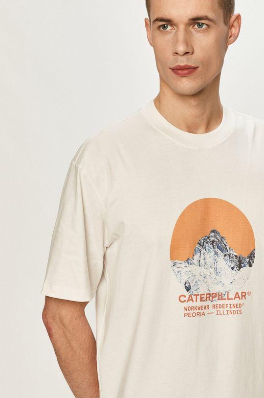 biela Caterpillar - Tričko