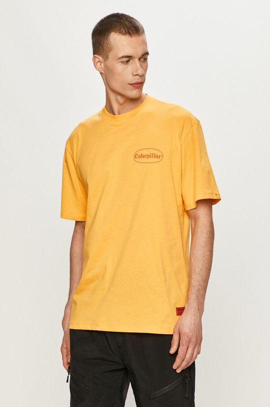 Caterpillar - Tričko žlutá