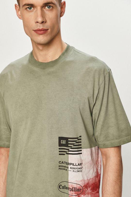miętowy Caterpillar - T-shirt Męski