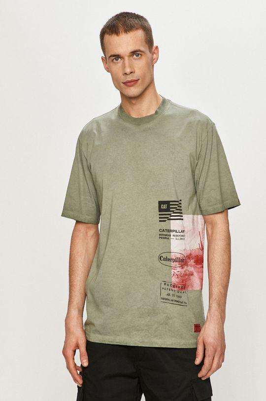 miętowy Caterpillar - T-shirt