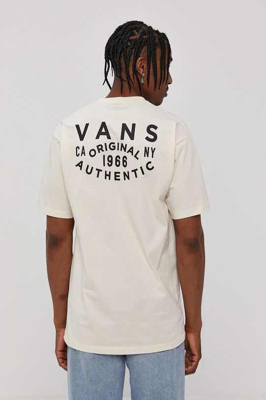 kremowy Vans - T-shirt Męski