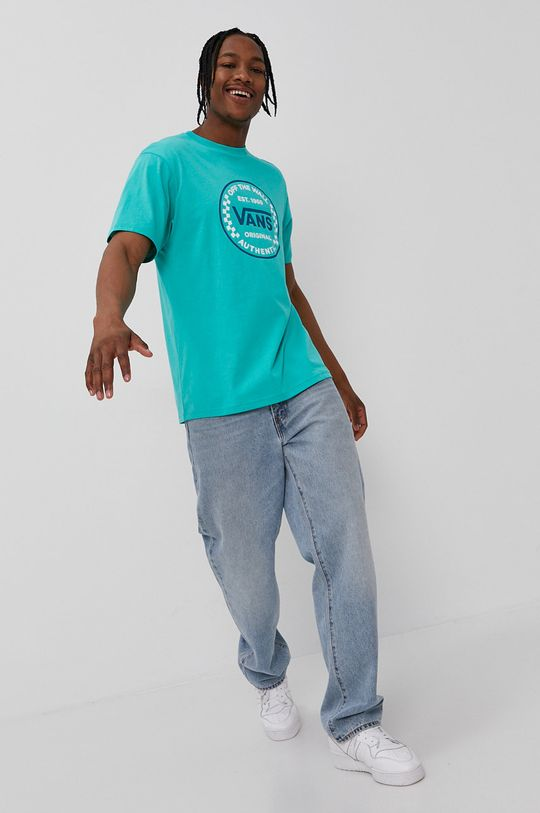 Vans - T-shirt zielony