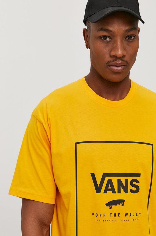 oranžová Vans - Tričko Pánský