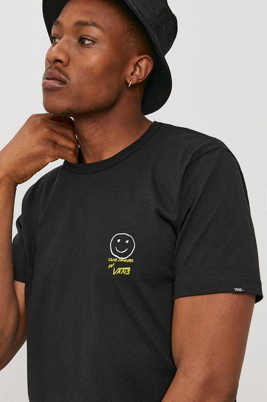 czarny Vans - T-shirt x Chris Johanson Męski
