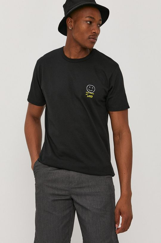 czarny Vans - T-shirt x Chris Johanson