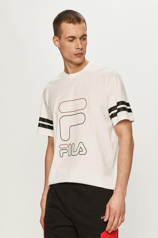 biały Fila - T-shirt Męski