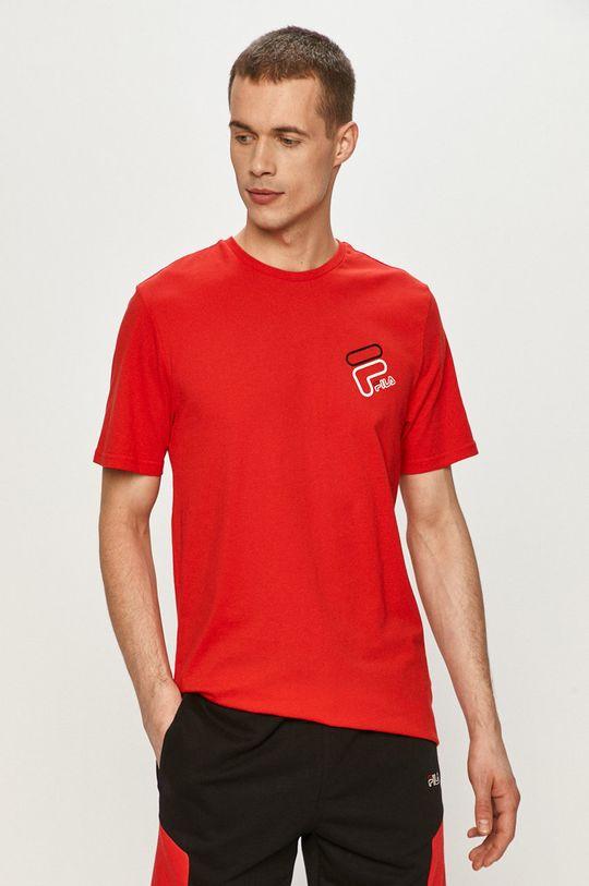 červená Fila - Tričko Pánský