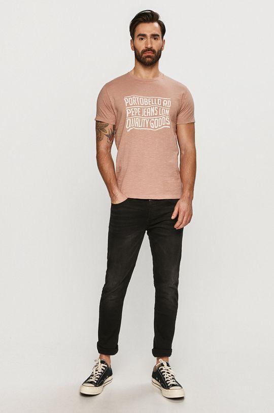 Pepe Jeans - Tričko Steph ružovo-červená
