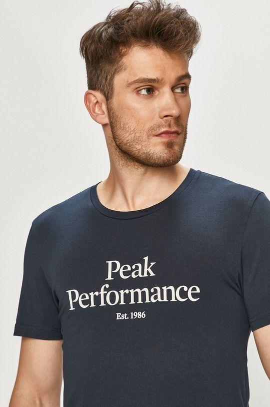 tmavomodrá Peak Performance - Tričko Pánsky