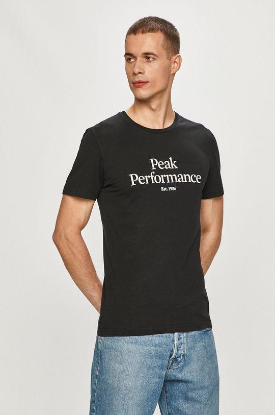czarny Peak Performance - T-shirt Męski