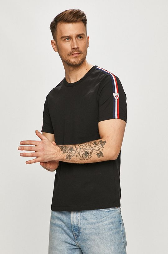 czarny Rossignol - T-shirt Męski