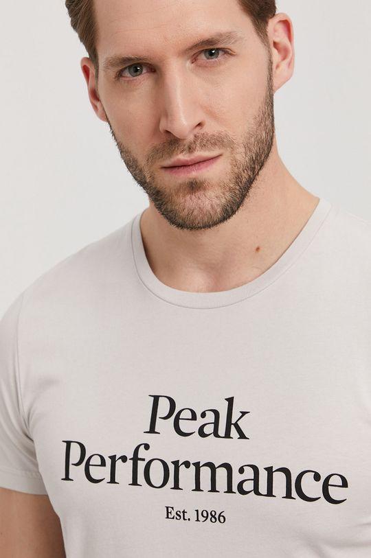 světle šedá Peak Performance - Tričko