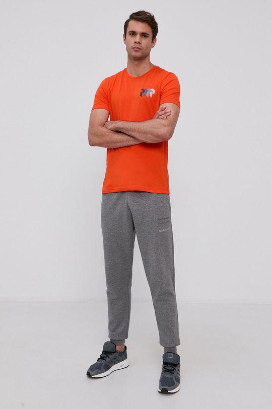 Peak Performance - T-shirt bawełniany pomarańczowy