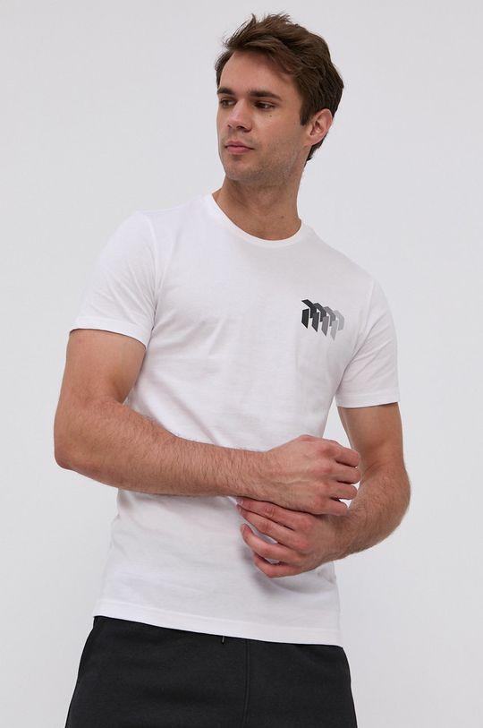 biela Peak Performance - Bavlnené tričko Pánsky