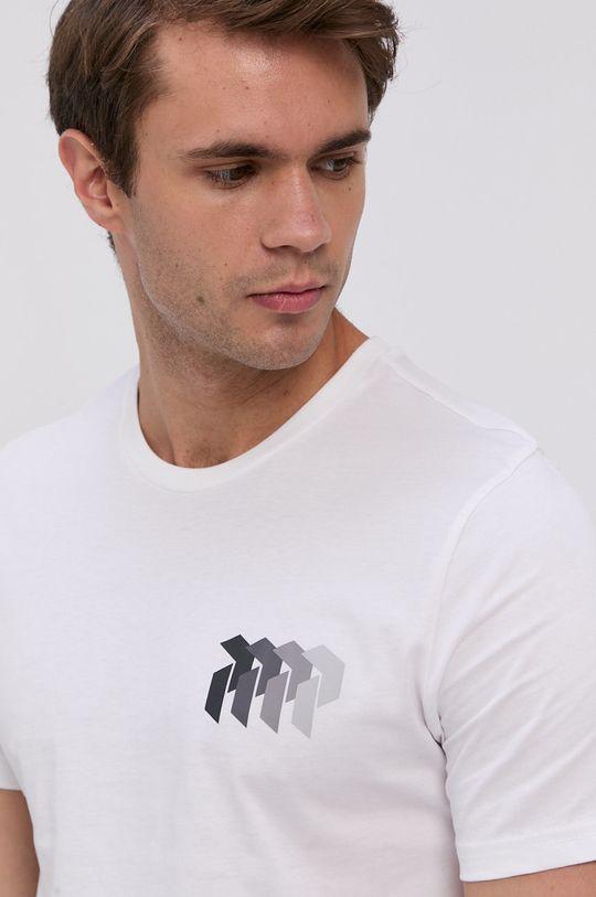 biela Peak Performance - Bavlnené tričko