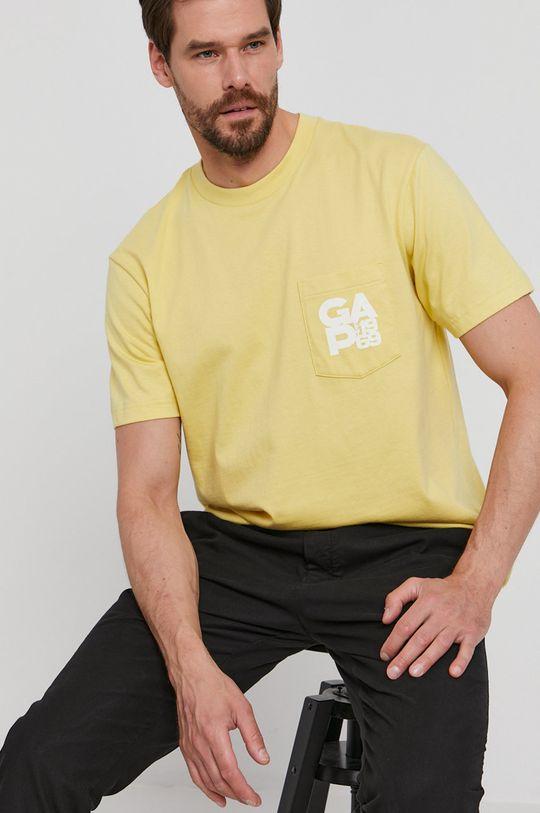 żółty GAP - T-shirt Męski