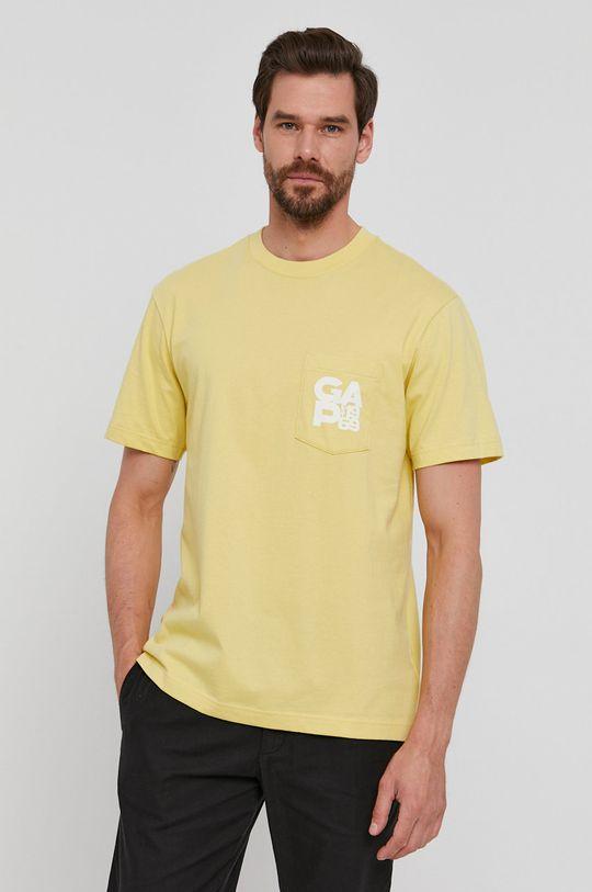żółty GAP - T-shirt