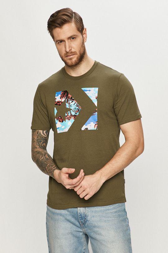 zielony Converse - T-shirt Męski