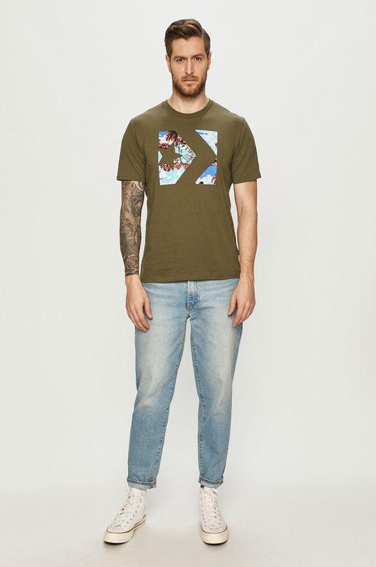Converse - T-shirt zielony