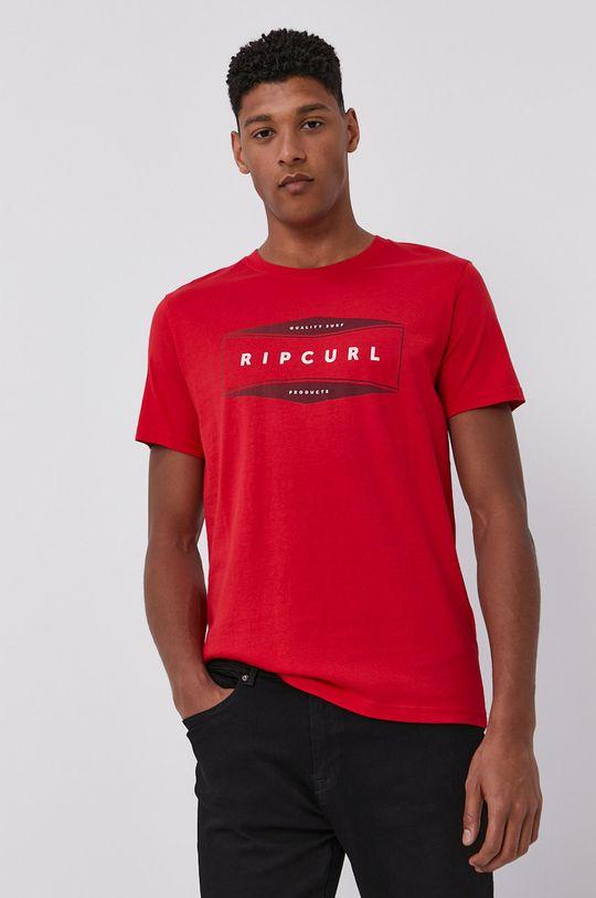 czerwony Rip Curl - T-shirt Męski