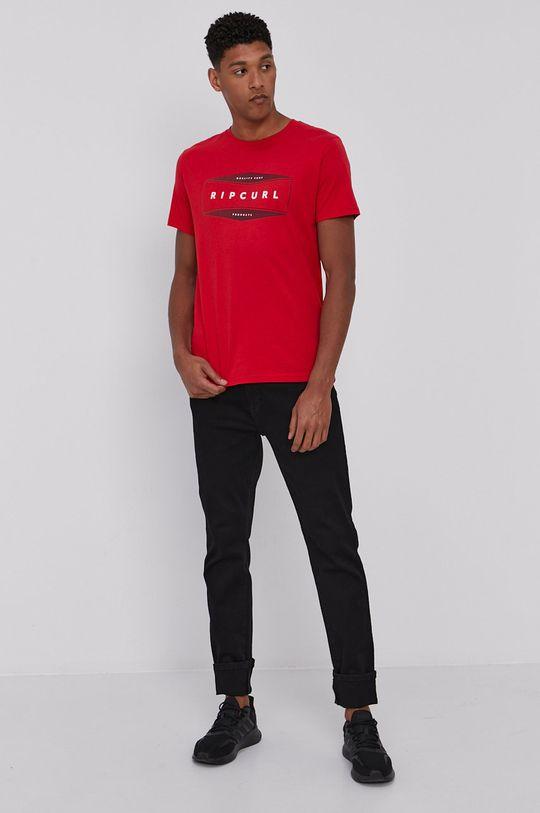 Rip Curl - T-shirt czerwony