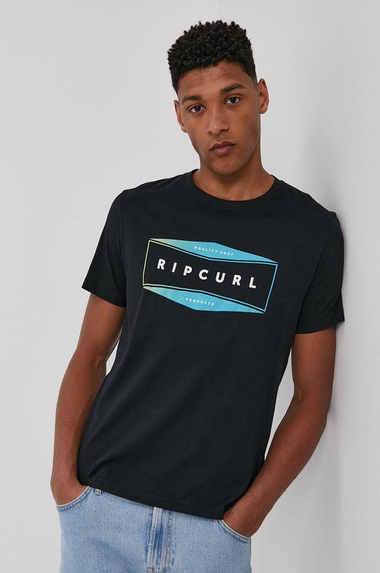 czarny Rip Curl - T-shirt Męski