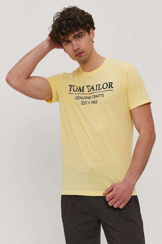 jasny żółty Tom Tailor - T-shirt Męski