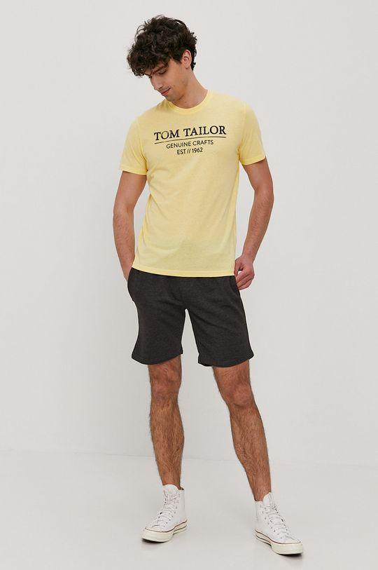 Tom Tailor - T-shirt jasny żółty