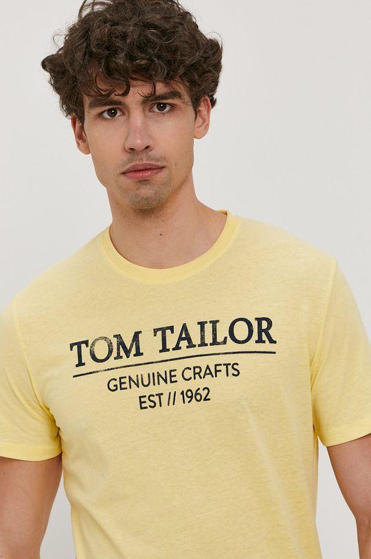 jasny żółty Tom Tailor - T-shirt