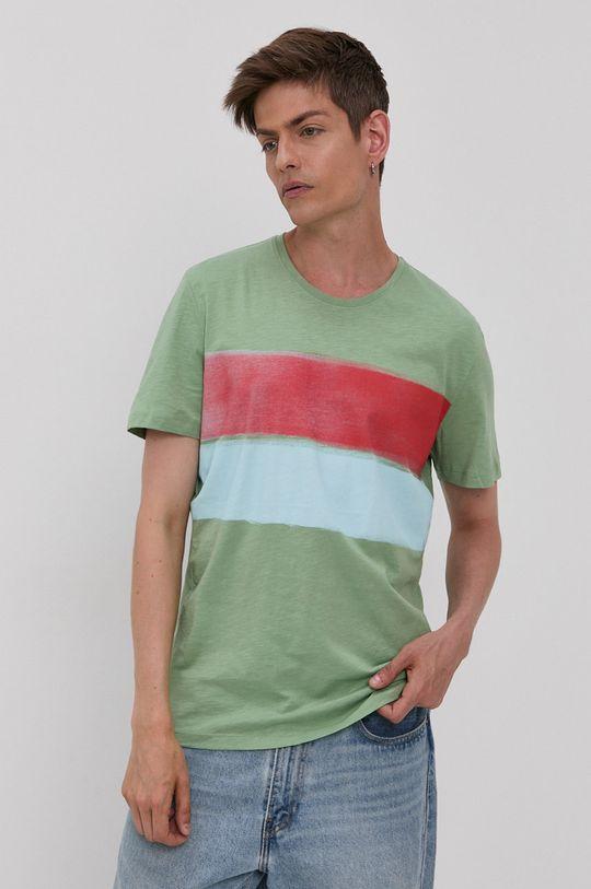 blady zielony Tom Tailor - T-shirt Męski