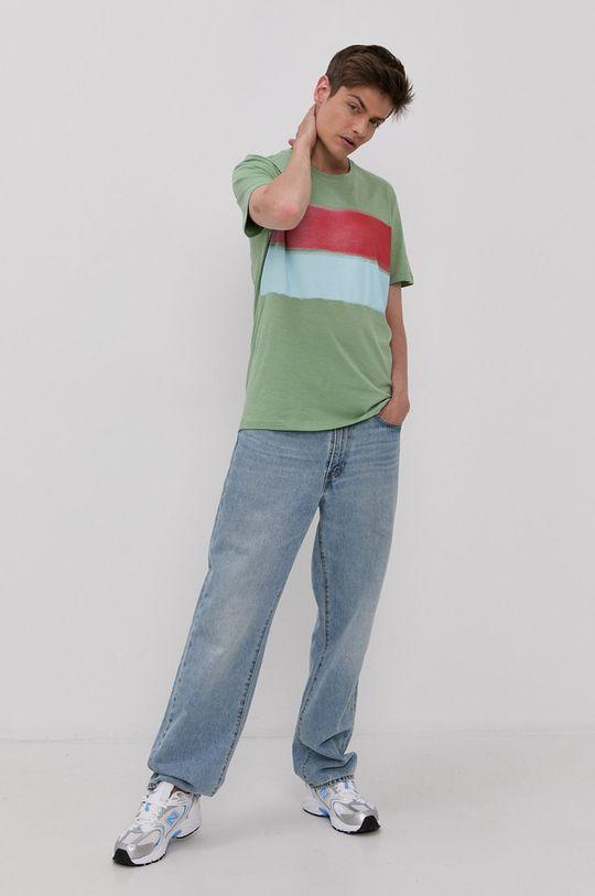 Tom Tailor - T-shirt blady zielony