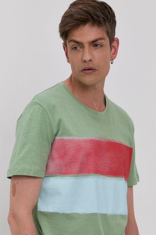 blady zielony Tom Tailor - T-shirt