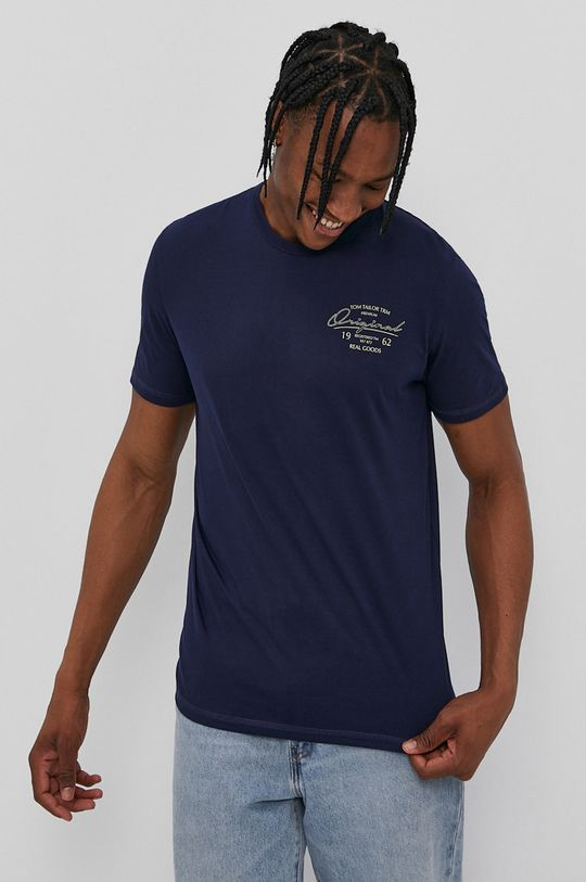niebieski Tom Tailor - T-shirt Męski