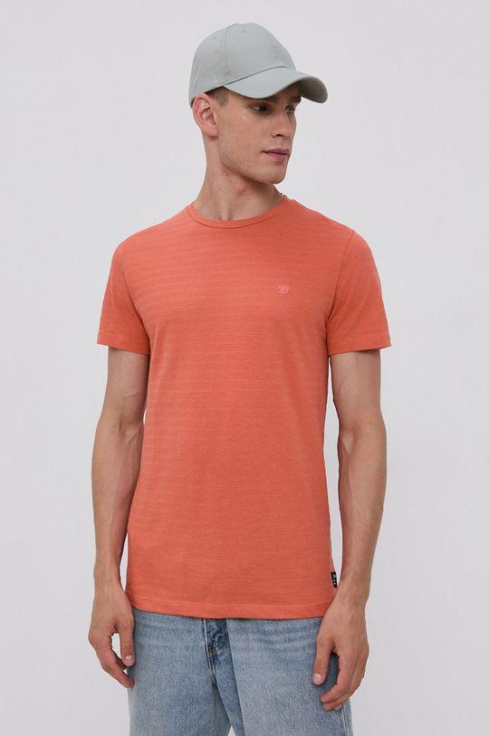 miedziany Tom Tailor - T-shirt Męski