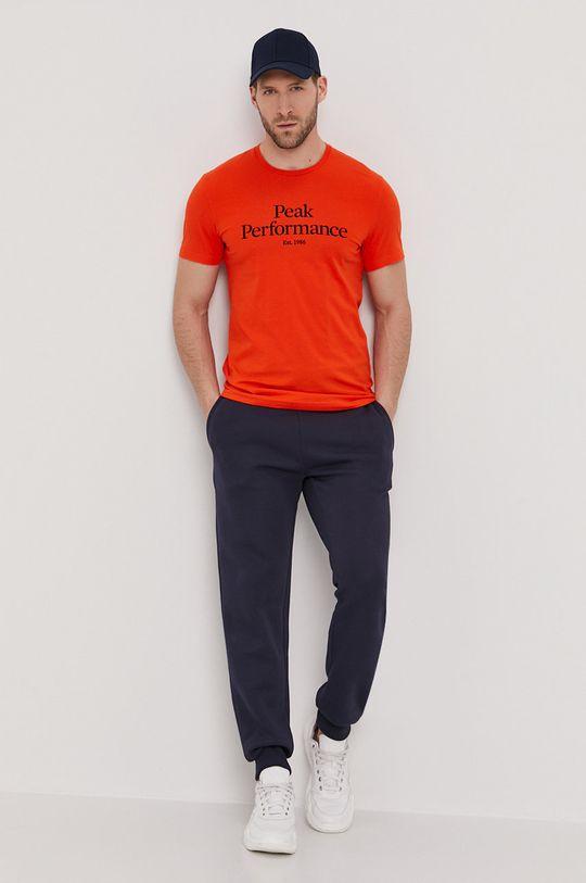 pomarańczowy Peak Performance - T-shirt Męski