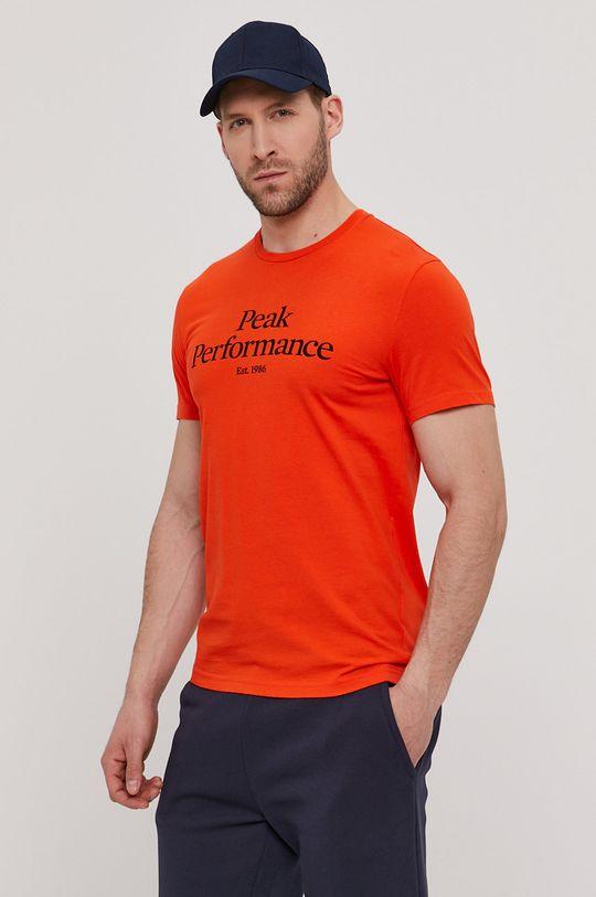 Peak Performance - T-shirt pomarańczowy
