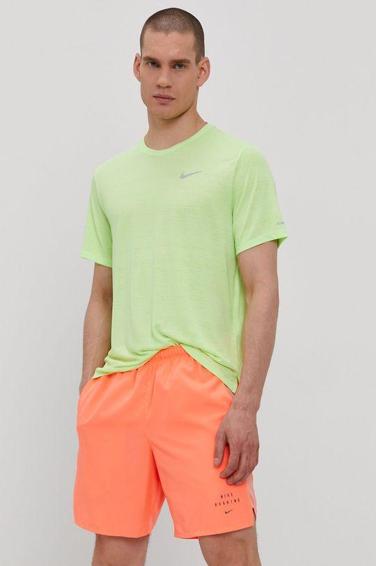 żółto - zielony Nike - T-shirt Męski