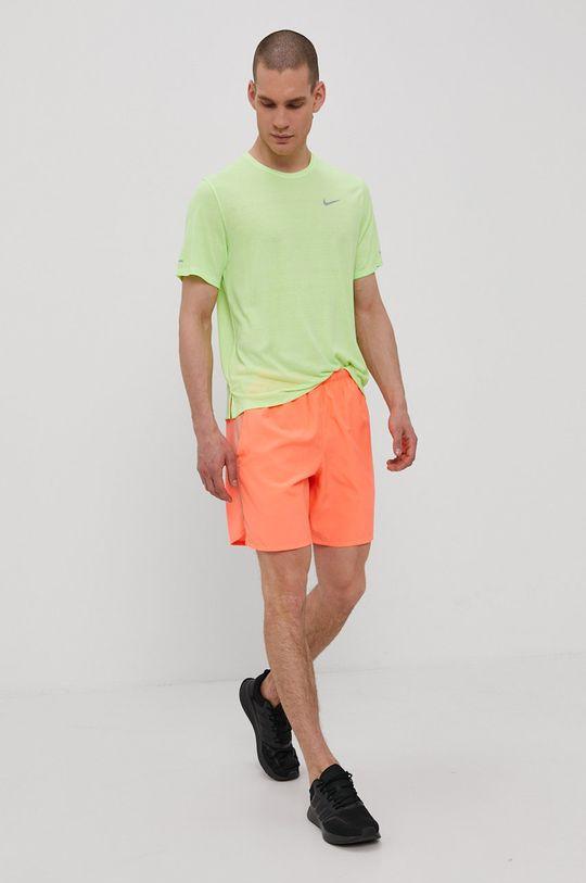 Nike - T-shirt żółto - zielony