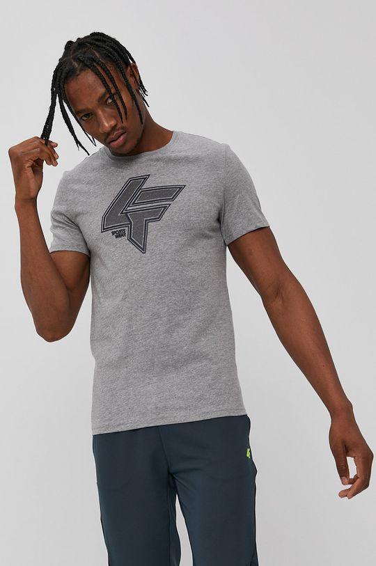 szary 4F - T-shirt Męski
