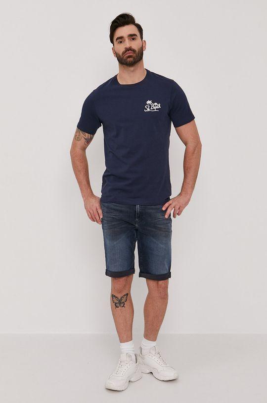 MC2 Saint Barth - T-shirt granatowy