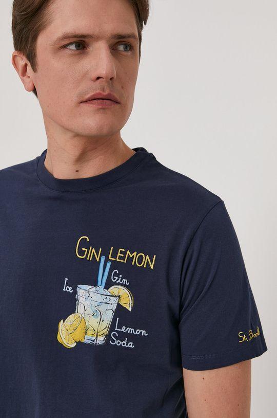 granatowy MC2 Saint Barth - T-shirt Męski