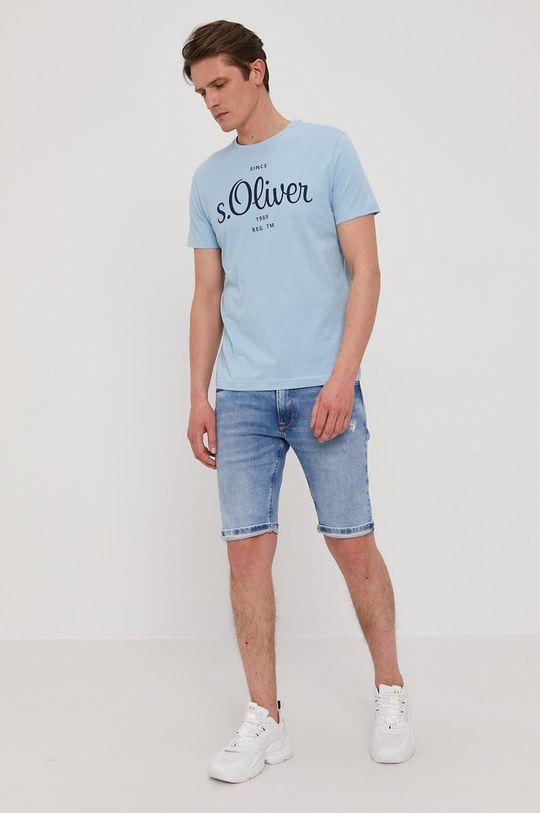 s. Oliver - Tricou albastru deschis