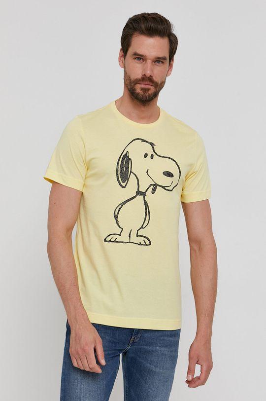 jasny żółty s. Oliver - T-shirt Męski