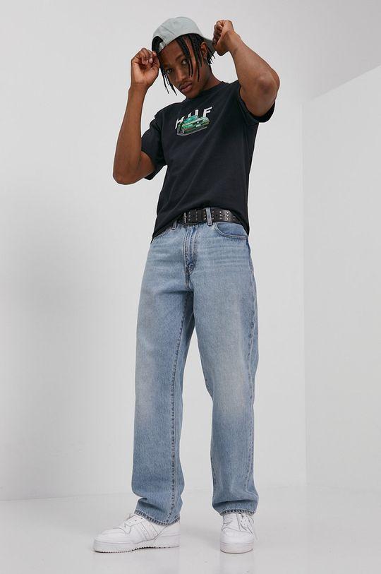 negru HUF - Tricou De bărbați